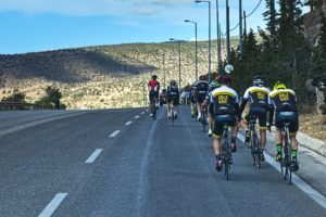 Road Cycling in Athens towards Sounio