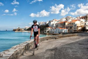 Cycling near Chora of Andros - Andros Island
