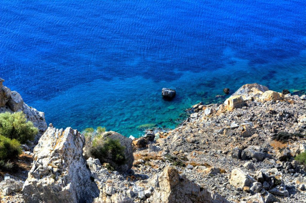 View from Ancient Establishment in Zagora - Andros Island