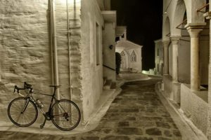 Chora of Andros, a flavor of bike