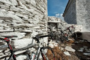 Cycling along with cycladic landscape - Andros Island