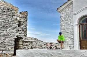 Cycling and Resting in Andros Island