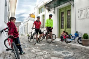 Cycling in Chora - Andros Island