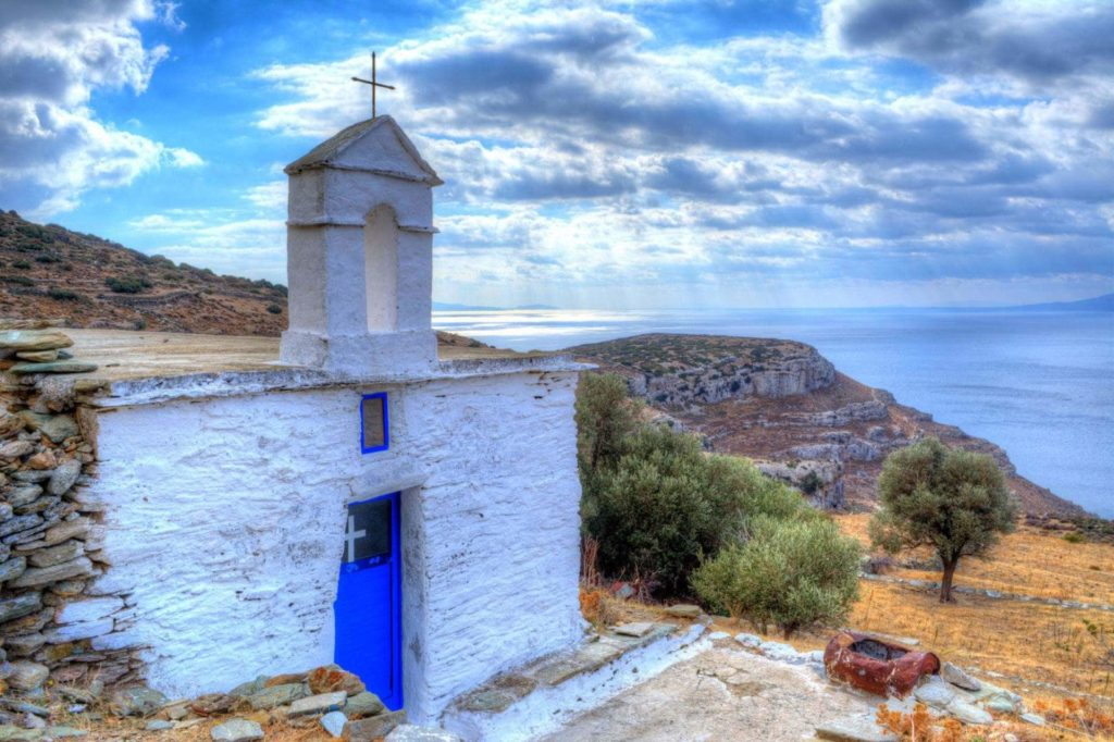 On the way to the Ancient Establishment in Zagora - Andros Island