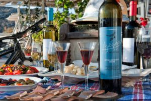 Tasting some authentic Mykonian delicacies and locally produced wine - Highlight from Gr Cycling's private tour in Mykonos