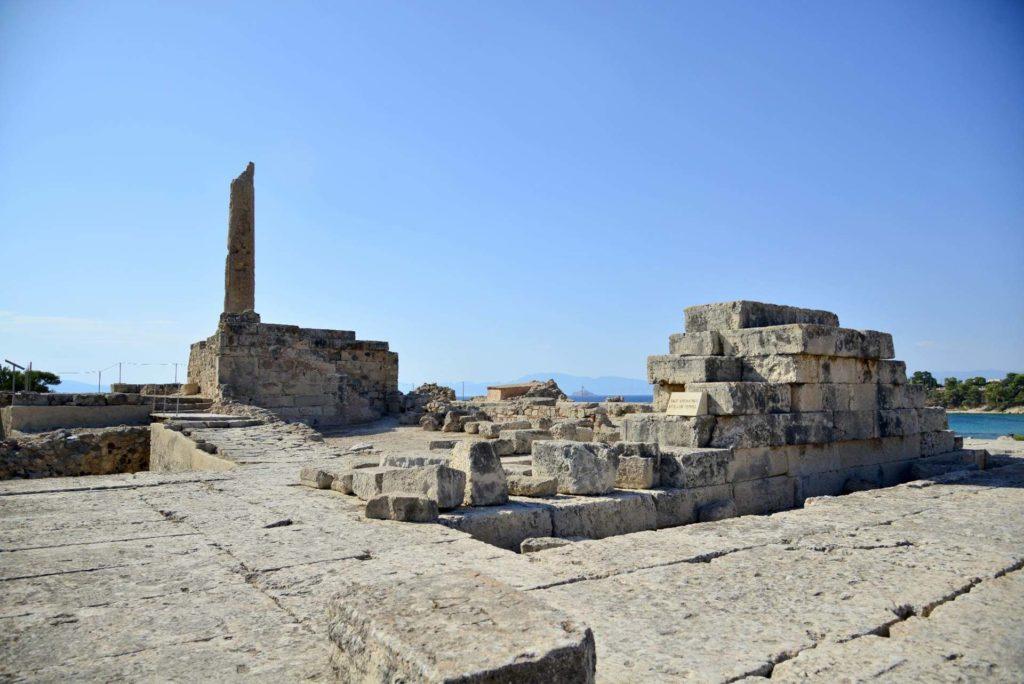 Apollo temple, Kolones archaeological site Aegina
