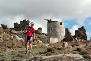 Exploring around the old windmills in Isternia Village - Tinos Island