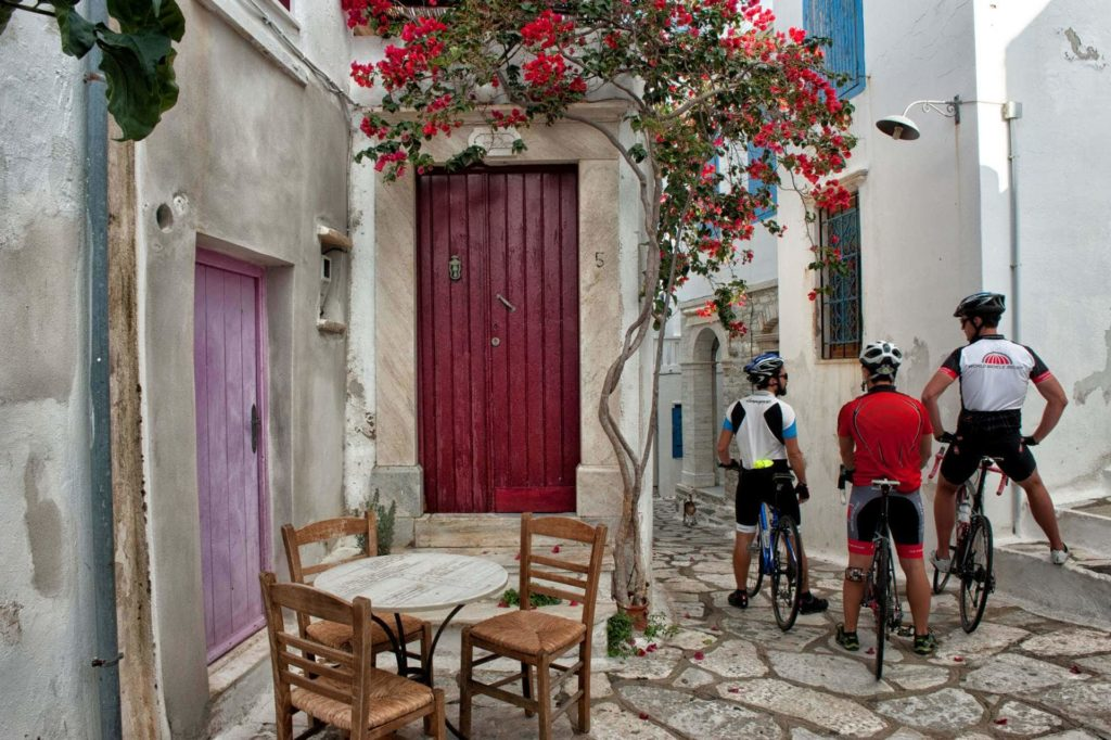 Cycling, Resting in Pyrgos Village - Tinos Island