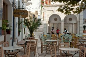 Cycling, Resting in Pyrgos Village - Tinos Island