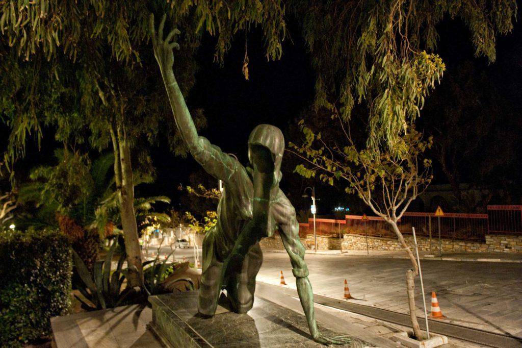Sculpture found in Chora of Tinos