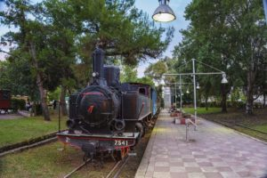 The old train station which the cyclist may visit during their stay in Kalamata