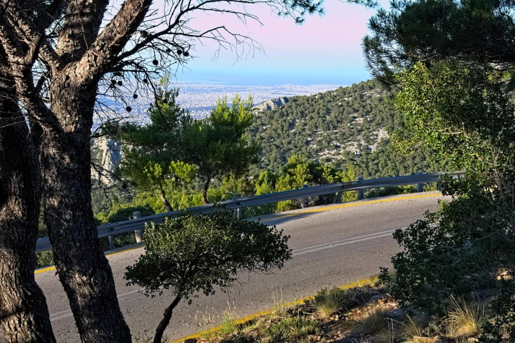 The view of the city of Athens from Mt. Parnitha - Road Cycling in Athens by GrCycling