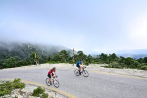 Reaching the Summit on Mt. Parnitha - Gr Cycling Athens