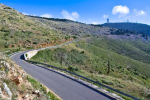 That's the way to the summit of Mt. Parnitha. Road cycling in Athens by GrCycling