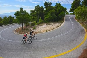 After the first km climbing on Mt. Parnitha. Getting to the top is quite rewarding - Road Cycling in Athens by GrCycling