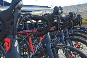 Fleet of rental road bikes