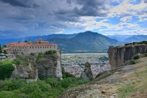 Breathtaking view from a monastery in Meteora during our cycling tous