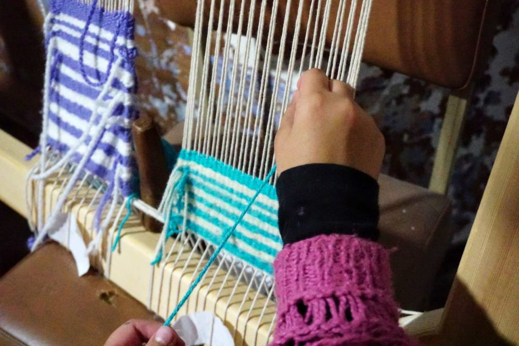 Weaving with an old traditional technique for the Leonidio Region