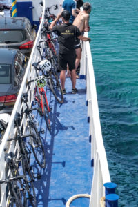 Coast to Coast in the Peloponnese ferry