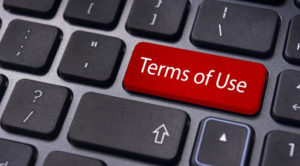 Terms of use image for the website