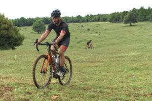 Cyclists enjoying gravel biking in Olympus region
