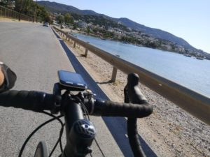 Porto Rafti view of the sea while cycling
