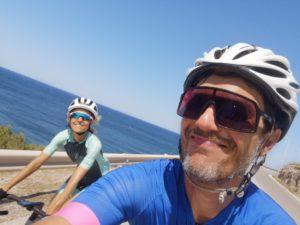 Cycling in Athens towards Sounio peninsula