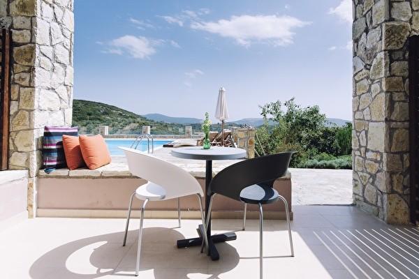 Breakfast view at Perivoli Hotel
