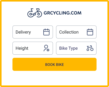 Preview of the bike rentals widget of GrCycling Partner Hotel