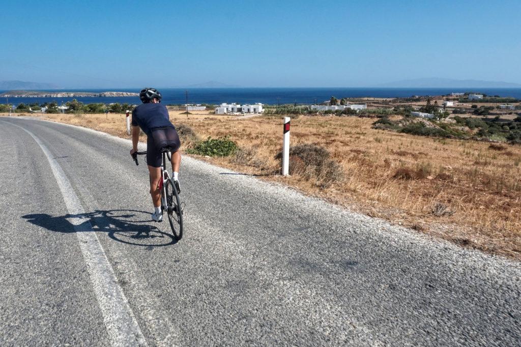 Cycling in Paros Greece
