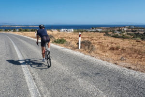 Cycling in Paros Greece