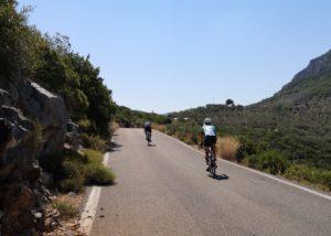 Cycling in Xiropigado, Peloponnese, Greece