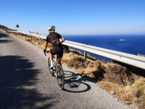 Cycling in Andros island Greece