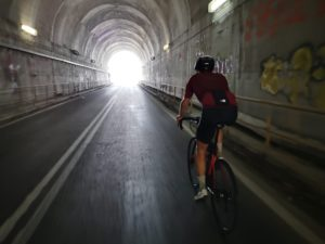 Highlght of the cycling route from Olympus when went inside the tunnel