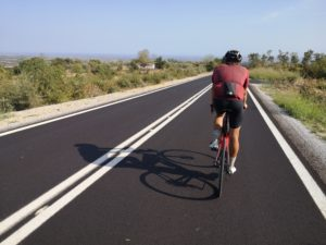 Cycling on perfect road conditions around mt. Olympus