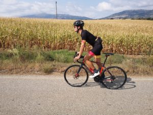 Cycling around the plain fields of Olympus mountain
