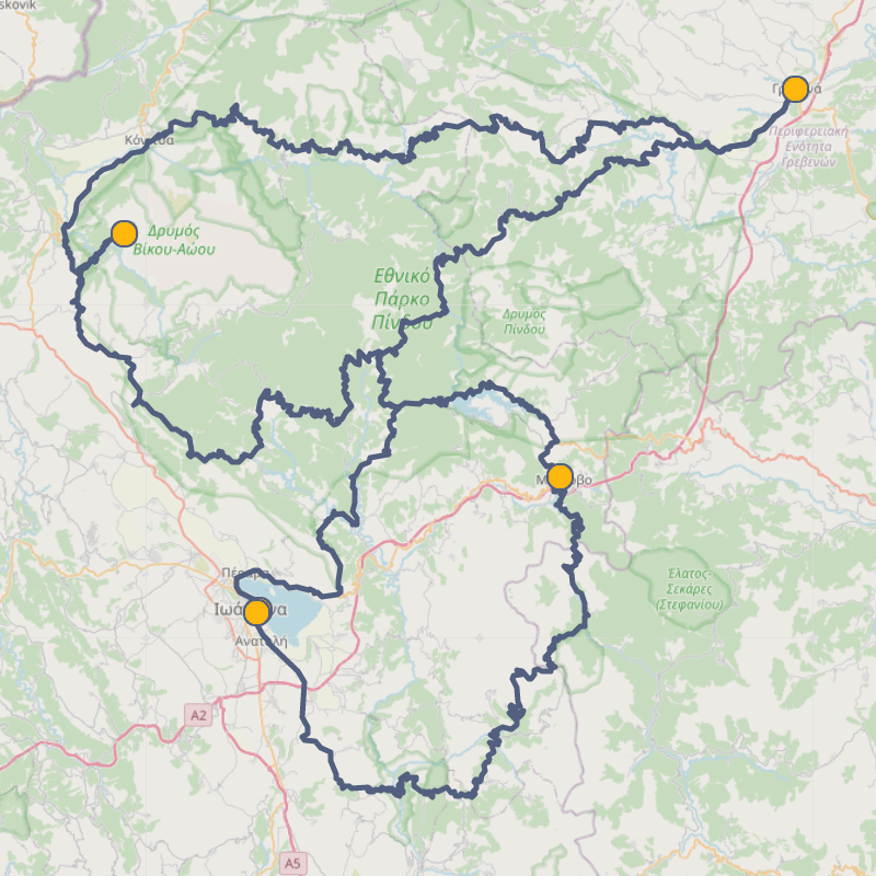 Cycling in Epirus overview