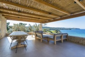 Cycling breakfast terrace on our Villa in Porto Heli