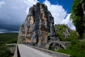 The iconic stone bridge in Epirus, part of the cycling route