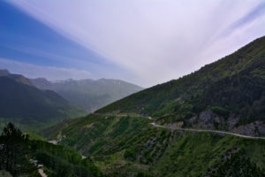 Forest Cycling road close to Metsovo