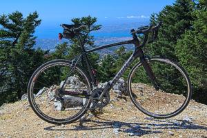 Road bike at Kefalonia's summit