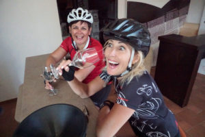 Cyclists who really enjoy the wine tour in Greece