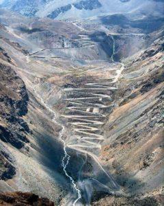 Massive climbing cycling segment in Chile